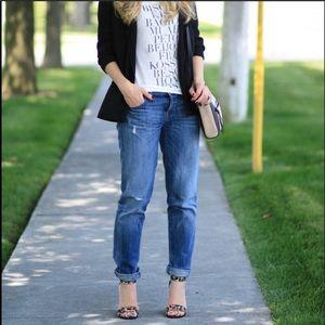 Loft Boyfriend Distressed Jeans Size Size 27